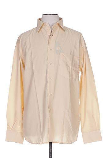 Chemise manches longues beige ALLONA pour homme