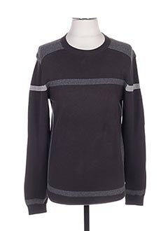 Pull col rond gris HUGO BOSS pour homme