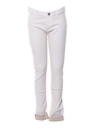 Jeans coupe slim beige SOEUR pour fille