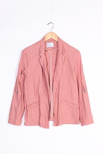 Veste chic / Blazer rose BERSHKA pour femme
