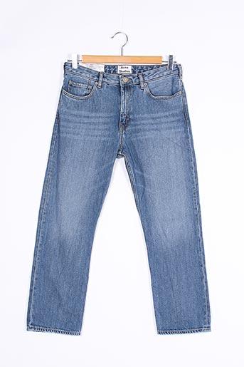 Jeans coupe slim bleu ACNE STUDIOS pour femme