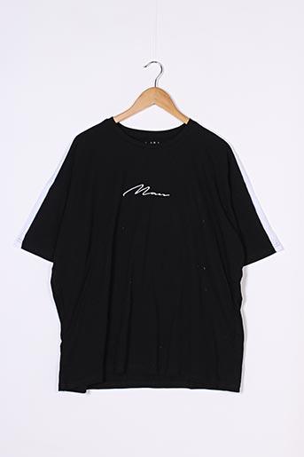 T-shirt manches courtes noir BOOHOO pour homme
