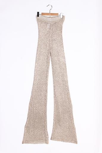 Pantalon casual beige BOOHOO pour femme