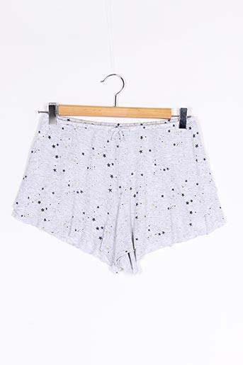 Pyjashort gris OYSHO pour femme