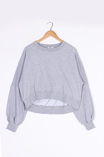 Sweat-shirt gris LILI SIDONIO pour femme