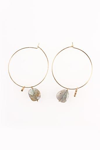 Boucles d'oreilles jaune BY JOHANNE pour femme