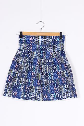 Jupe courte bleu BELIEVE...E pour femme