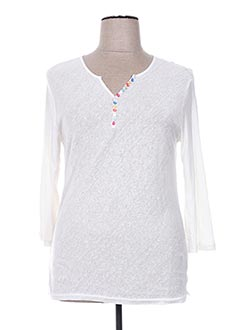 T-shirt manches longues blanc GIORGIO BARBARA pour femme
