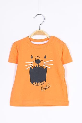 T-shirt manches courtes orange LOSAN pour garçon