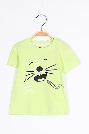 T-shirt manches courtes vert LOSAN pour garçon