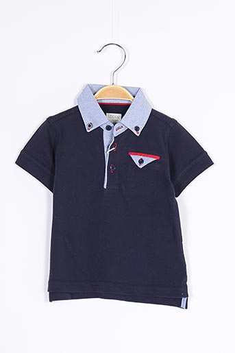 Polo manches courtes bleu LOSAN pour garçon