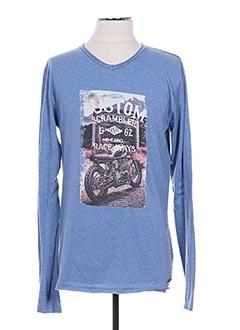 T-shirt manches longues bleu BECKARO pour garçon