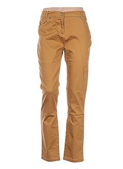 Pantalon casual jaune ESPRIT DE LA MER pour femme