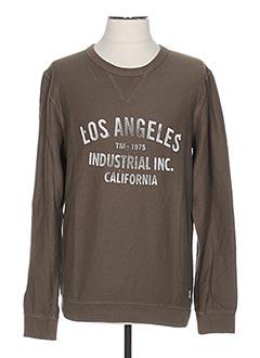 Sweat-shirt marron JACK & JONES pour homme