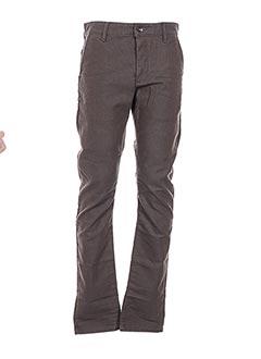 Pantalon casual marron CHEFDEVILLE pour homme