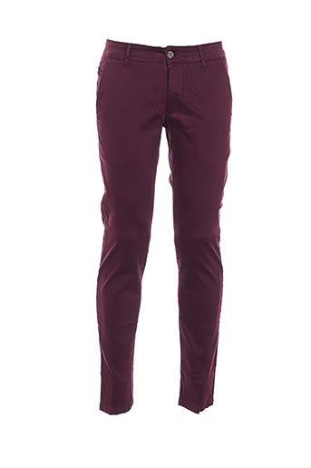 Pantalon casual violet DIRTY PAGE pour homme