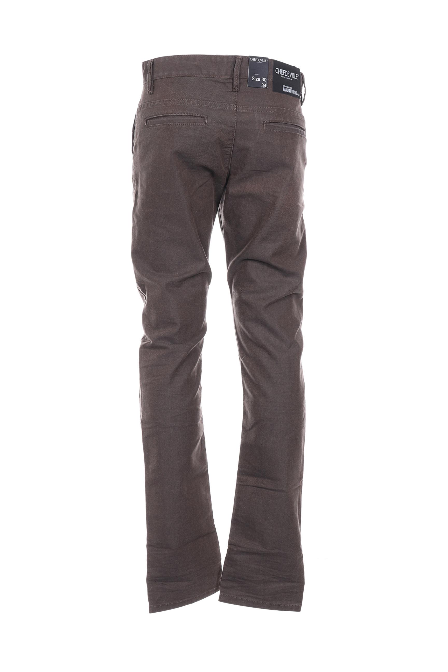 Chefdeville Pantalons Decontractes Homme De Couleur Marron En Soldes Pas Cher 1369212-marron