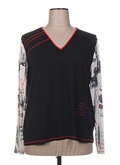 T-shirt manches longues noir BRIGITTE SAGET pour femme