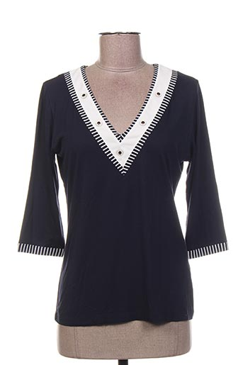 T-shirt manches longues bleu FINETTE pour femme