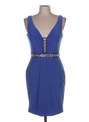 Robe mi-longue bleu FASHION NEW YORK pour femme
