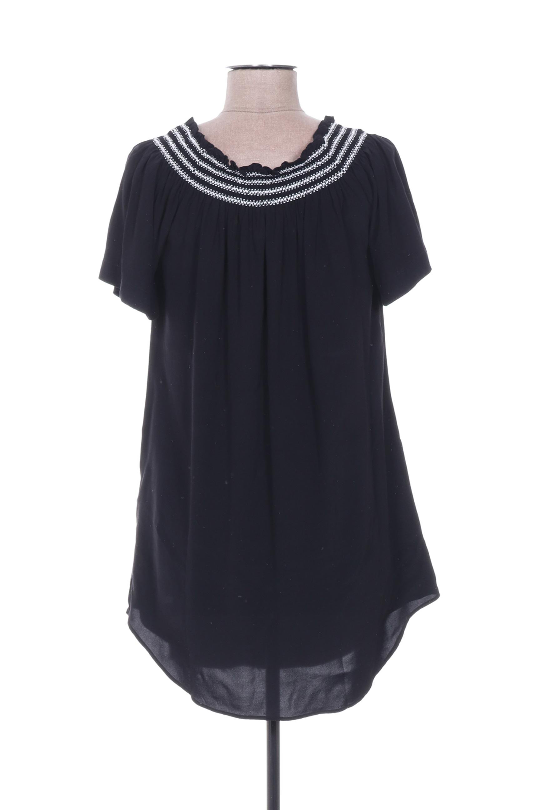 Seafolly Robes Courtes Femme De Couleur Noir En Soldes Pas Cher 1377900-noir00