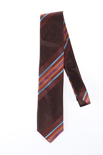 Cravate marron NODUS pour homme