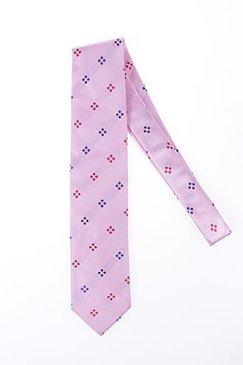Cravate rose NODUS pour homme