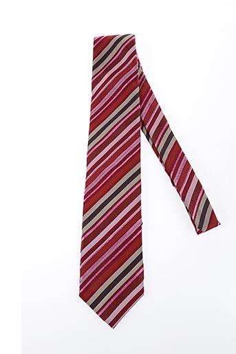 Cravate rouge NODUS pour homme