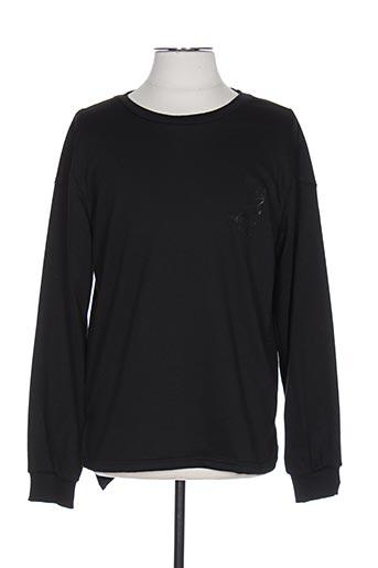 Sweat-shirt noir DESIGN BY S.L pour homme