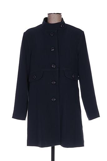 Manteau long bleu HIPPOCAMPE pour femme