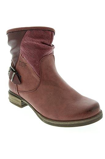 Bottines/Boots rouge DELIRES DE FILLE pour femme