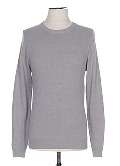 Pull col rond gris CROSSBY pour homme