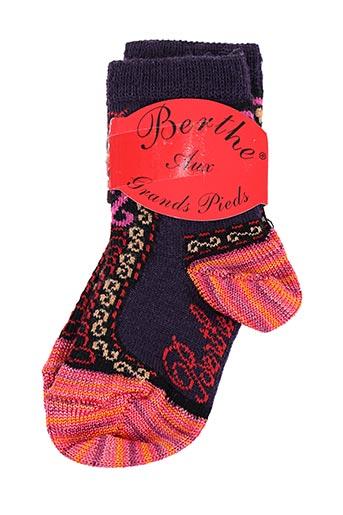 Chaussettes violet BERTHE AUX GRANDS PIEDS pour fille