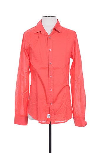 Chemise manches longues orange CROSSBY pour homme