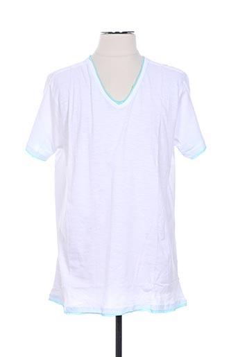 T-shirt manches courtes blanc CROSSBY pour homme
