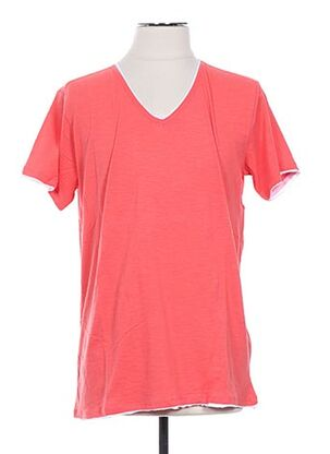 T-shirt manches courtes rouge CROSSBY pour homme