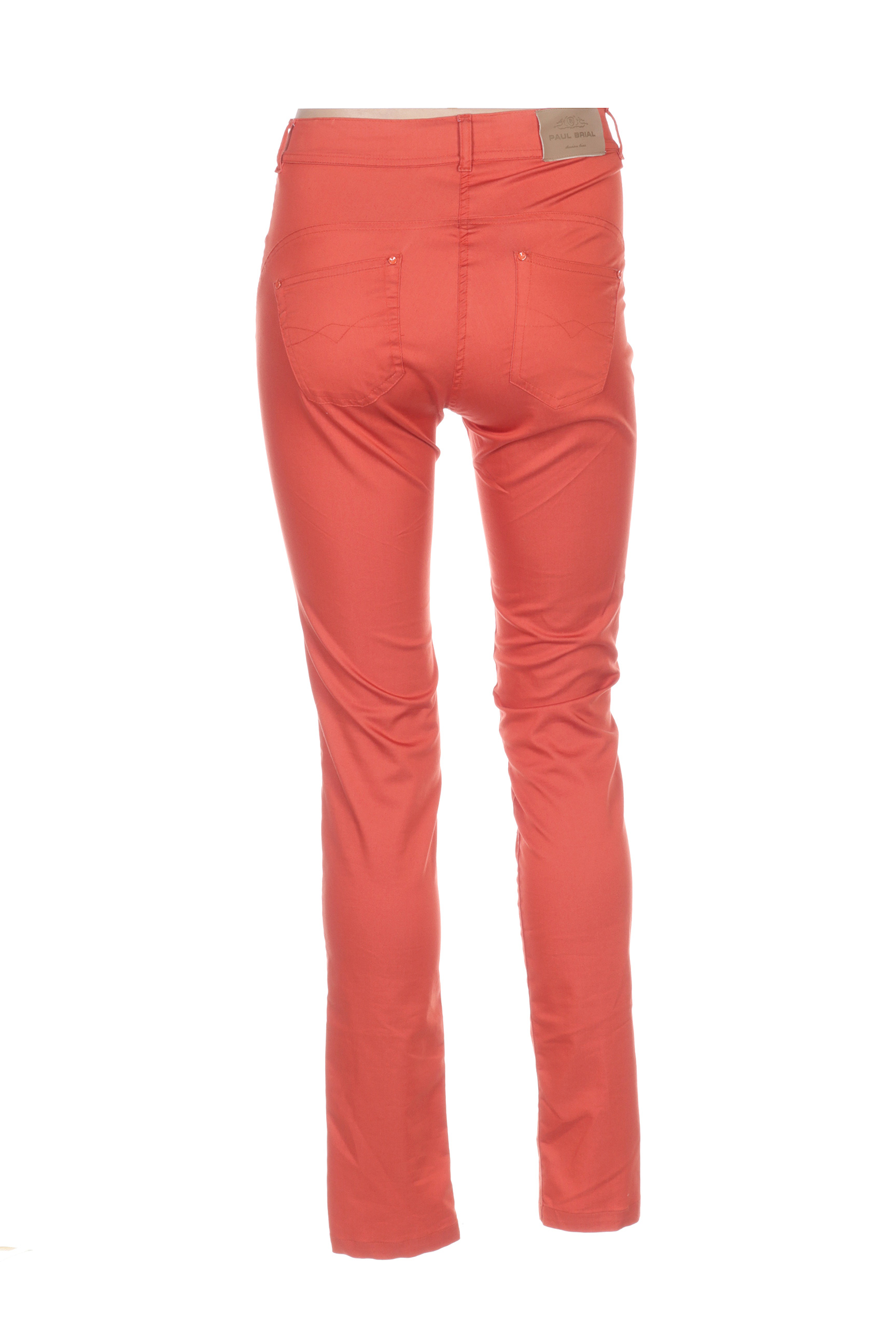 Paul Brial Pantalons Decontractes Femme De Couleur Orange En Soldes Pas Cher 1369224-orange