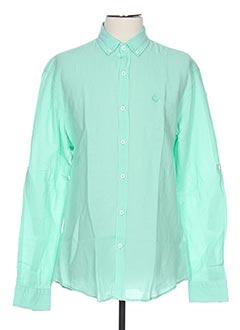 Chemise manches longues vert MONTE CARLO pour homme