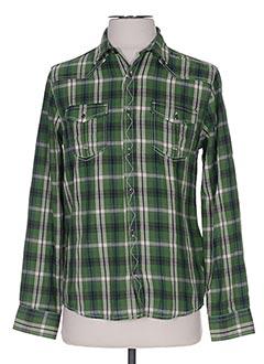 Chemise manches longues vert LOSAN pour garçon