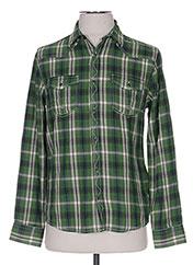 Chemise manches longues vert LOSAN pour garçon seconde vue