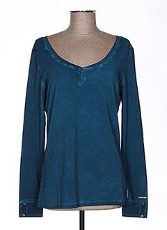 T-shirt manches longues bleu TIMEZONE pour femme