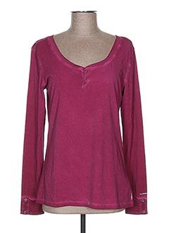 T-shirt manches longues violet TIMEZONE pour femme