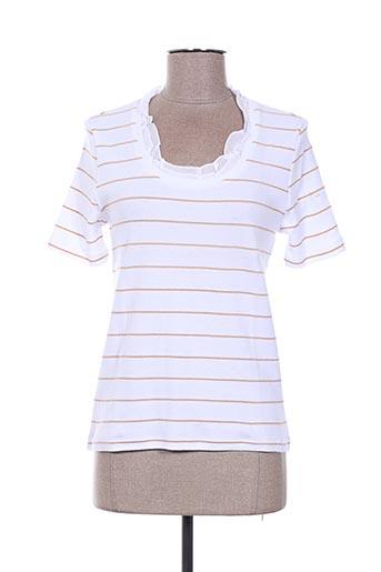 T-shirt manches courtes blanc FINETTE pour femme