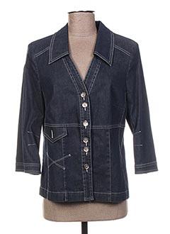 Veste en jean bleu BLEU DE SYM pour femme