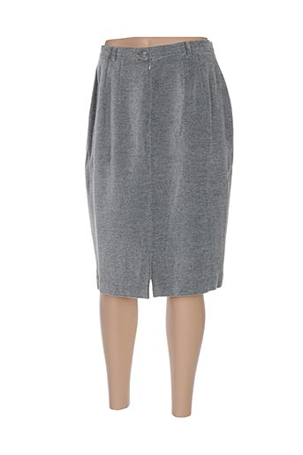 Jupe mi-longue gris GREGORY PAT pour femme