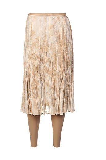 Jupe mi-longue beige APANAGE pour femme