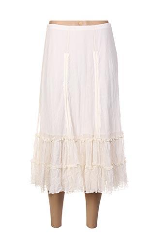 Jupe mi-longue beige COCO MENTHE pour femme