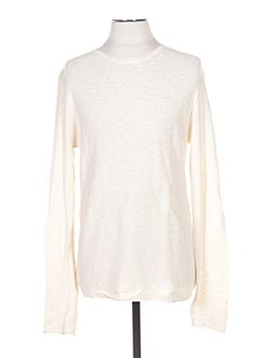 Pull col rond beige CELIO pour homme