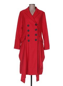 Manteau long rouge BLEU BLANC ROUGE pour femme