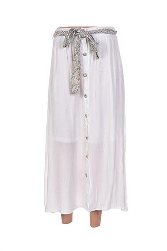 Jupe longue blanc CHERRY pour femme